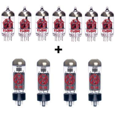 Jeu De Lampes De Rechange Pour Marshall 6100 (6 X Ecc83 1 X équilibrées Ecc83 4 X Appairée El34)
