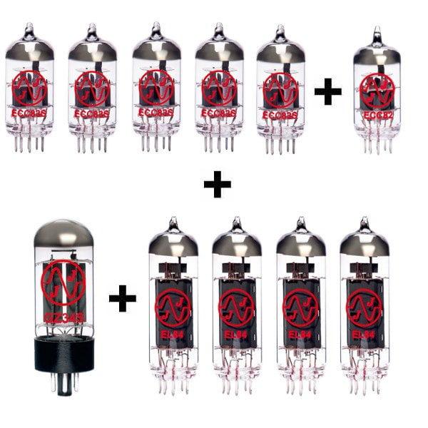 Jeu De Lampes De Rechange Pour Vox Ac30 6tb (5 X Ecc83 1 X Ecc82 1 X Gz34 4 X Appairée El84)